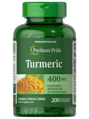 Puritan's Pride Turmeric 400 mg 200 Capsules 524