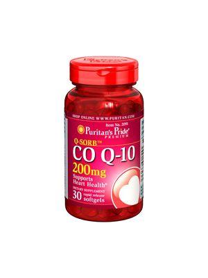 Puritan's Pride Co Q 10 200 mg 30 Softgels 2091