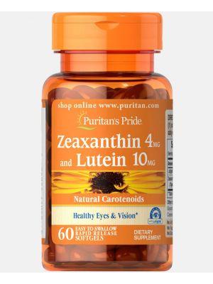 Puritan's Pride Zeaxanthin 4 mg en Lutein 10 mg 60 Softgels 55692