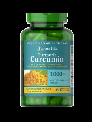 Puritan Pride Kurkuma Curcumin mit Bioperine 1000 mg 60 Kapseln 78826