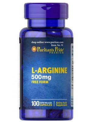 Puritan's Pride L-Arginine 500 mg 100 Capsules 91