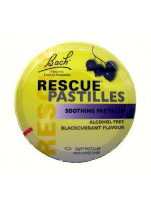 Bach Rescue Pastilles Cassis Blikje à 50 gram (ca. 38 pastilles).