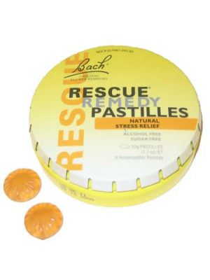Bach Rescue Pastilles Sinaasappel Blikje à 50 gram (ca. 38 pastilles).