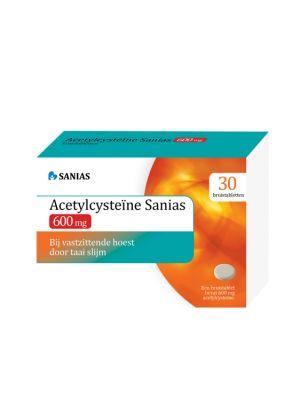Sanias ACC 600 mg Acetylcysteine 30 Bruistabletten