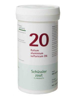 Sels de Schüssler nr 20 Kalium aluminium sulfuricum D6 400 comprimés