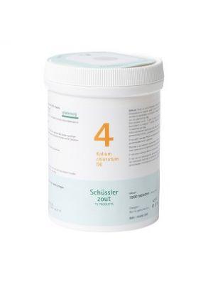 Sels de Schüssler nr 4 Kalium Chloratum D6 1000 comprimés