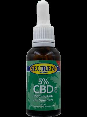Seuren Nutrients CBD Olie (5%) Full spectrum | Hennepolie 30 ml