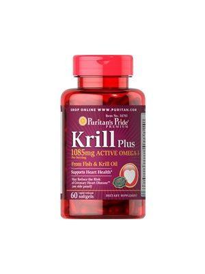 Puritan's Pride Krill plus 1085 mg active omega 3 60 capsules 34783