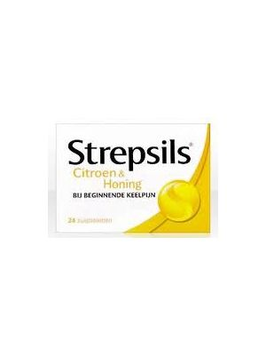 Strepsils Citroen & Honing 24 Zuigtabletten