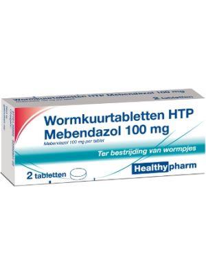 Healthypharm Wormkuurtabletten HTP Mebendazol 100 mg 6 stuks