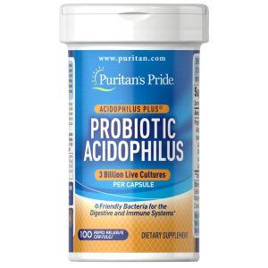 Puritan's Pride Probiotic Acidophilus 100 Capsules 1540