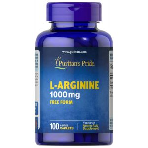 Puritan's Pride L-Arginine 1000 mg 100 Caplets 7888