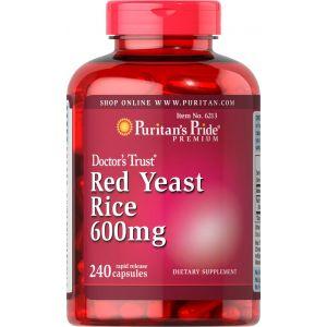 Puritan's Pride Red Yeast Rice 600 mg 240 Capsules 6213