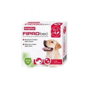 Beaphar Fiprotec voor honden tegen teken en vlooien 20-40 kg 4 x 2,68 ml pipetten