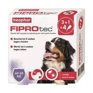Beaphar Fiprotec voor honden tegen teken en vlooien 40-60 kg 4 x 4,02 ml pipetten