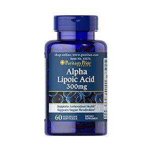 Puritan's Pride Alpha Lipoic Acid 300 mg 60 Softgels 13576