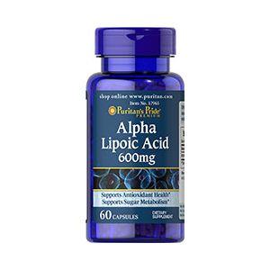 Puritan's Pride Alpha Lipoico acid 600 mg 60 Capsules 17965
