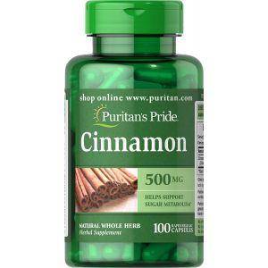 Puritan's Pride Cinnamon 500 mg 100 Capsules 14020