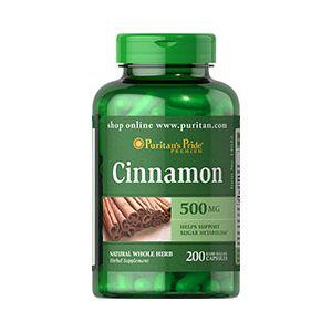 Puritan's Pride Cinnamon 500 mg 200 Capsules 14022