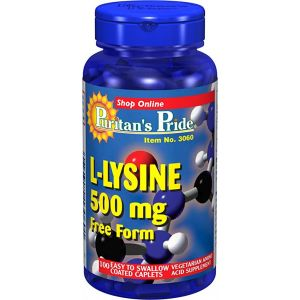 Puritan's Pride L-lysine 500 mg 100 Tabletten 3060