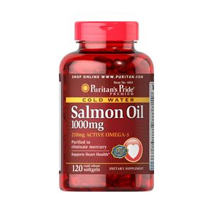 Puritan's Pride Omega 3 Salmom Oil 1000 mg 120 Softgels 4461