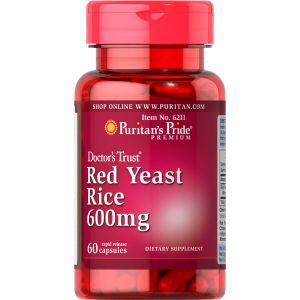 Puritan's Pride Red Yeast Rice 600 mg 60 Capsules 6211