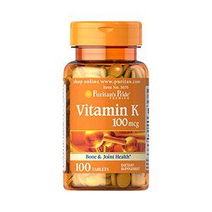 Puritan's Pride Vitamin K 100 mcg 100 Tabletten 3070