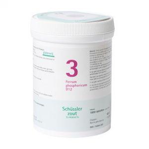 Sels de Schüssler nr 3 Ferrum Phosphoricum D12 1000 comprimés