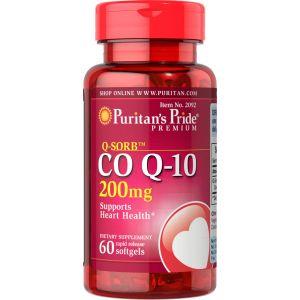 Puritan's Pride Co Q 10 200 mg 60 Softgels 2092