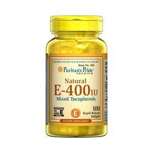 Puritan's Pride Vitamine E-400 iu 100 Softgels 460